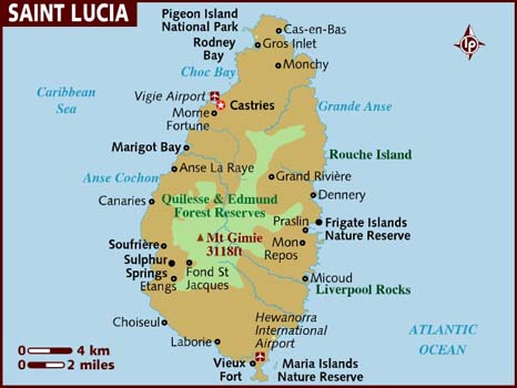 Shipping to St. Lucia